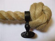 Best Rope Hand Rail Bracket Antique Satin Brass Stairs 400 x 300