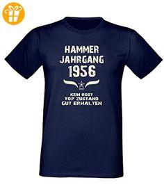 Geburtstags Fun T-Shirt Jubiläums-Geschenk zum 61. Geburtstag Hammer Jahrgang 1956 in navy-blau auch in Übergrößen 3XL, 4XL, 5XL (*Partner-Link)