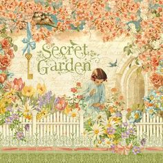 """Secret Garden"" front page from our new collection Secret Garden. In stores February! #graphic45 #CHAW2013 #CHAshow #sneakpeeks"
