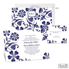 Detailed Floral Wedding Invitation