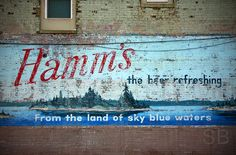 Wow!  A wonderful old Hamm's wall mural.