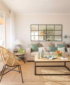 Simple Living Room Decor, Boho Living Room, Home And Living, Home Room Design, Interior Design Living Room, Living Room Designs, Apartment Interior, Apartment Living, Design Salon