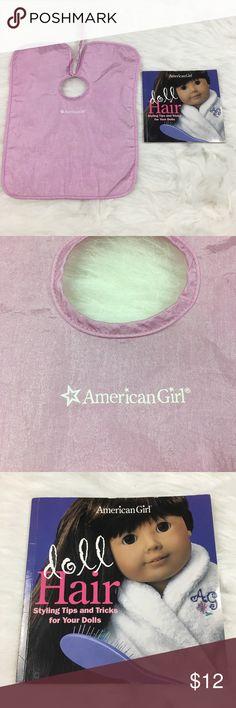 AMERICAN GIRL DOLL HAIR BOOK/ BEAUTY PARLOR CAPE American Girl Doll Hair Styling Book/ American Girl Beauty Parlor Pink Salon Cape American Girl Other