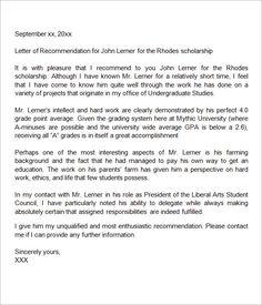 005 Sample Letter of for Scholarship 15