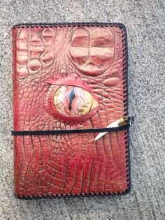 The Hobbit: Eye of Smaug Dragon Skin Leather Book Cover on Etsy, $99.00
