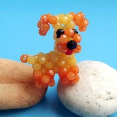 5x Dollhouse  Handmade Lovely  Bead Animals . (Dog)