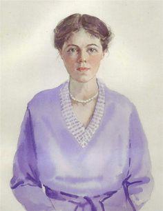 "A self portrait of herself,the Grand Duchess Olga Alexandrovna Romanova of Russia. ""AL"""