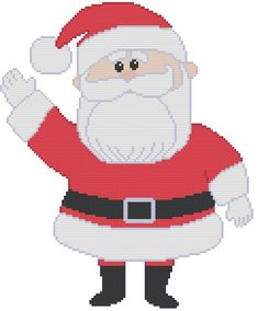 This a pattern of Santa Claus from the Rudolph the Red Nosed Reindeer Christmas special! I can hear him calling Rudolph! My patterns can be Cross Stitched on ANY size Aida cloth. Minion Christmas, Christmas Yard Art, Christmas Cross, Reindeer Christmas, Snowman Cross Stitch Pattern, Santa Cross Stitch, Counted Cross Stitch Patterns, Rudolph Red Nosed Reindeer, Rudolph The Red