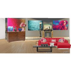 A home decor collage from July 2013 featuring pottery barn furniture, glass lamps and stretched canvas. Mermaid, Cabinet, Living Room, Storage, Polyvore, Stuff To Buy, Color, Furniture, Design