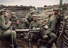 Groupe de soldats allemand aux tranchées
