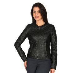 Women's Harve Benard Faux-Leather Motorcycle Jacket, Size: