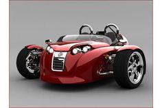 Cirbin V13R three-wheeled sports vehicle