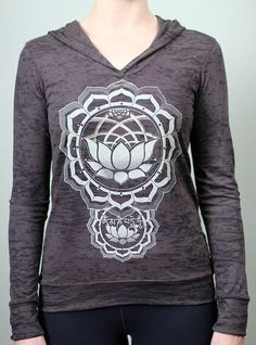 Protection Burnout hoodie  Sacred geometry screen by Rythmatix, $35.00