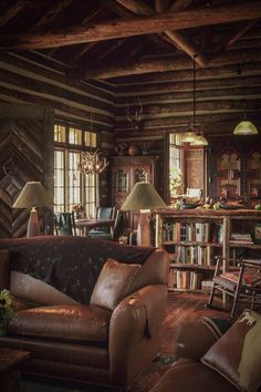 I'd love a cabin like this, though slightly less cluttered.
