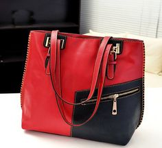 Soft Medium Zipper PU Leather Shoulder Bags with Interior Cell Phone P | Stylish Beth