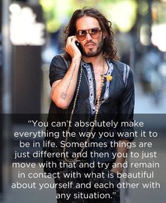 And after all of his battles with drug and sex addictions, he still thinks the world is a wonderful place. | 29 Good Reasons To Worship Russell Brand As A God
