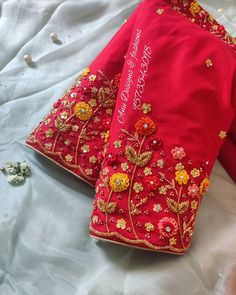 Cutwork Blouse Designs, Wedding Saree Blouse Designs, Pattu Saree Blouse Designs, Simple Blouse Designs, Stylish Blouse Design, Hand Embroidery Designs, Floral Embroidery, Saree Embroidery Design, Designer Sarees Wedding
