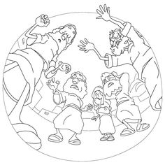 Acts Pauls First Journey Paul Heals A Lame Man Coloring Page