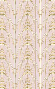 Ispirata all'iconica architettura del Chrysler Building di New York, la Carta da Parati Art Déco, Guglia del Chrysler Building contribuirà a creare un look sofisticato e di design nel tuo spazio. Il suo disegno presenta in forma illustrata i motivi geometrici di stile art déco che hanno reso celebre questo grattacielo, dando vita a una decorazione murale glamour in pieno stile anni '20.