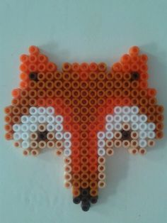 Fox (for my daugther) hama perler beads by Paula Plenty of Presents
