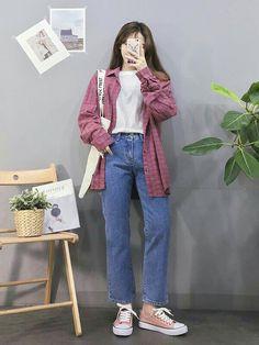 Great prices on stunning spring korean fashion! - fashion spring Great prices on stunning spring korean fashion! Korean Girl Fashion, Korean Fashion Trends, Ulzzang Fashion, Korea Fashion, Asian Fashion, Look Fashion, Fashion Spring, 90s Fashion, Trendy Fashion