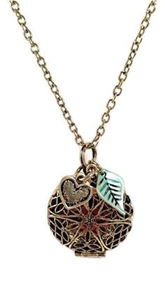 BodyMindSoul Diffuser Necklace Adjustable Antique Finish Essential Oil Aromatherapy Diffuser W/Charms & Three Leather Pads - Use Promo Code 30OFFDIF to get 30% off on top of the sale price :) http://www.amazon.com/dp/B018528DR6/ref=cm_sw_r_pi_dp_c5EEwb13C172E