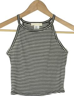 sussie striped crop top (black and white)