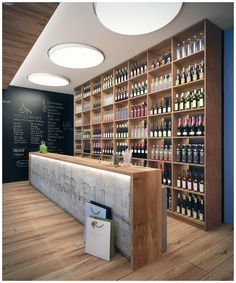 #parquet en #locales comerciales www,decorgreen.es Shop Bar by Lichik Paul