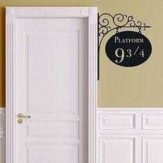 Platform 9 3/4 Harry Potter Door Decor Sticker