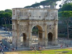 16 Best Places to see in the Eternal City of Rome , Italy - Arch of the Constantine