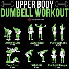 Do you have dumbbells at home? Here is an awesome upper body workout that only uses dumbbells! If your dumbbells aren't heavy enough, it's still a great way to add resistance to our bodies instead of doing body weight exercises. Dumbbell Workout At Home, Body Workout At Home, Gym Workout Tips, At Home Workouts, Workout Fitness, Upper Body Dumbbell Workout, Upper Body Strength Workout, Gym Tips, Kettlebell Training