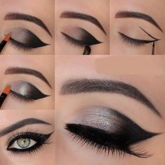 Black-and-silver-eye-makeuptutorial