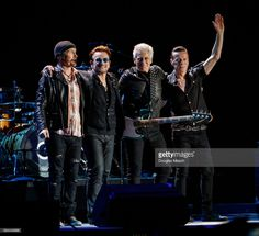 U2, The Edge, Bono, Adam Clayton and Larry Mullen perform durnig the Bonnaroo Music and Arts Festival 2017 on June 9, 2017 in Manchester, Tennessee.