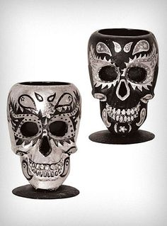 Sugar Skull Votive Candle Holder