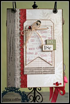 TERESA COLLINS DESIGN TEAM: Christmas Cottage Coundown flip album by Cheri Piles Part 4