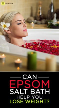 Do you find it strange to believe that a salt bath can cause weight loss? Well, it is true! We are talking about epsom salt baths, that not only benefits your health but also aids in weight loss increase muscle blood pressure Weight Loss Detox, Weight Loss Goals, Epsom Salt For Hair, Salt Hair, Epsom Salt Bath, Epson Salt Bath Benefits, Epsom Salt Foot Soak, Bath Detox, Full Body Detox