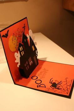 Halloween Haunted House! by figaro - Cards and Paper Crafts at…