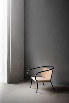 Fauteuil bas Afteroom Lounge Chair / Cuir - Menu