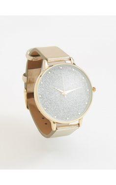 Ceas de mână cu curea, Bijuterii, ceasuri, auriu, RESERVED