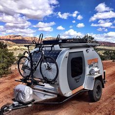 13 Fantastic Teardrop Camper Trailer Design Ideas For Nice Camping - Travel Trailer - Small Camper Trailers, Off Road Camper Trailer, Small Trailer, Trailer Diy, Small Campers, Trailer Decor, Teardrop Camper For Sale, Teardrop Camper Interior, Teardrop Campers