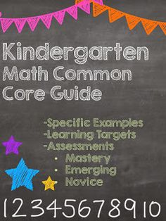 Kindergarten Math Common Core Guide