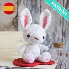 With this pattern by El Duende De Los Hilos you will lear how to knit a Little rabbit amigurumi crochet pattern step by step. It is an easy tutorial about bunnies to knit with crochet or tricot. Crochet Patterns For Beginners, Easy Crochet Patterns, Amigurumi Patterns, Baby Patterns, Crochet Girls, Crochet Toys, Crochet Animals, Baby Toys, Amigurumi Animals