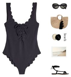 """""""hot day"""" by fashionmelka ❤ liked on Polyvore featuring Marysia Swim, JADEtribe, Gabriela Hearst, Bobbi Brown Cosmetics, Chanel and Acne Studios #acneclothing"""