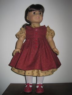 Old Fashioned Dress and Pinafore for the American Girl and Similar 18 Inch Dolls. $42.00, via Etsy.