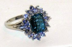 London Blue Topaz Tanzanite Cocktail Ring 4.30ctw size 7 Christmas In July    http://stores.ebay.com/JEWELRY-AND-GIFTS-BY-ALICE-AND-ANN