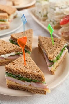 simple-baby-shower-food-ideas-triangle-sandwiches