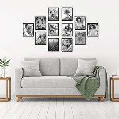 Picture Wall Living Room, Living Room Photos, Living Room Decor, Gallery Wall Living Room Couch, Living Room Wall Decor Ideas Above Couch, Photo Wall Decor, Family Wall Decor, Family Photos On Wall, Wall Decor With Pictures