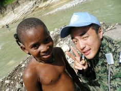 Haiti suffer huge earthquake in 2010. When the Korea war, Haiti support South Korea financially.  but 60 years later, South Korea send troops overseas to Haiti. i was in there. it was disaster.  never ever again...