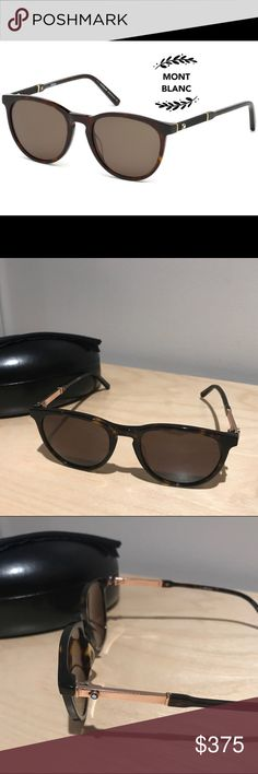 fccb8cf61cd4 Authentic Mont Blanc Sunglasses 🕶 Got this in a trade and never used it.  No case but will include a generic one. Trade value higher.