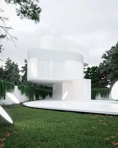 buro511 imagines its villa X as a stack of rounded, glowing volumes Urban Architecture, Contemporary Architecture, Green Facade, Sheer Drapes, Design Language, Exhibition Space, Japanese House, Creative Inspiration, Glow